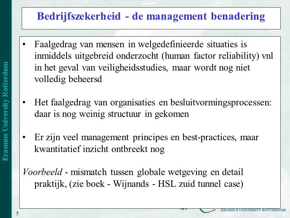 Bedrijfszekerheid - de management benadering
