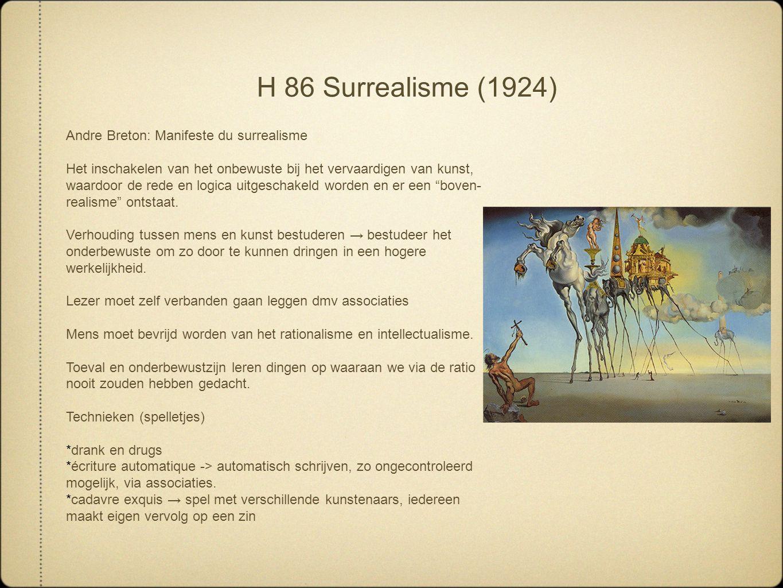 H 86 Surrealisme (1924) Andre Breton: Manifeste du surrealisme
