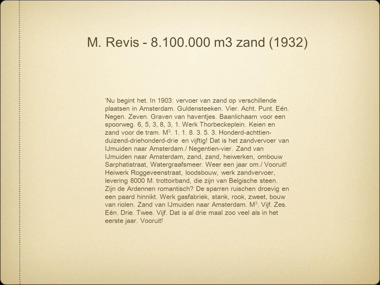 M. Revis - 8.100.000 m3 zand (1932)