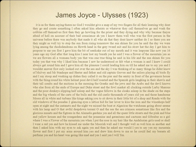 James Joyce - Ulysses (1923)