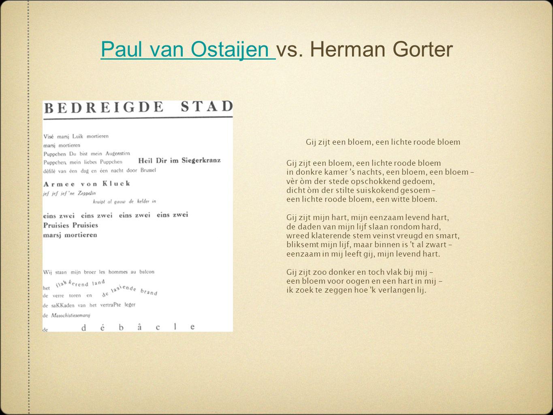Paul van Ostaijen vs. Herman Gorter