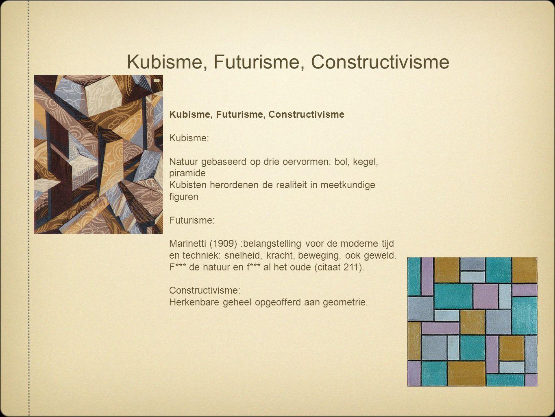Kubisme, Futurisme, Constructivisme