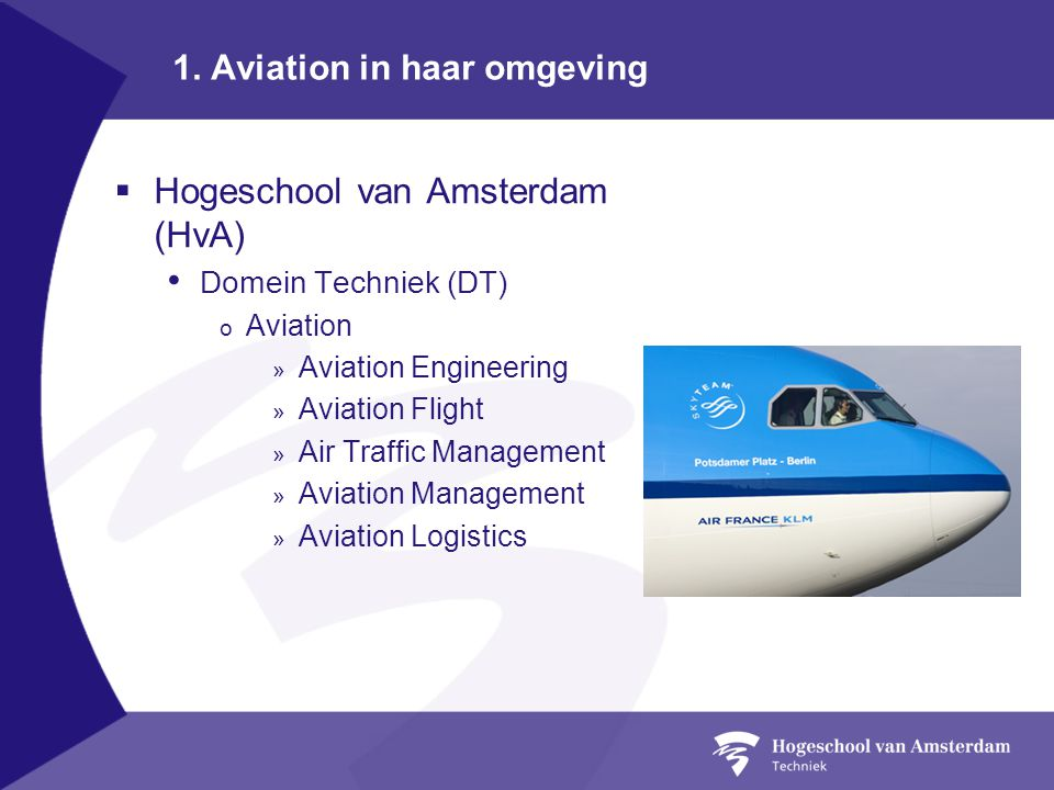 1. Aviation in haar omgeving