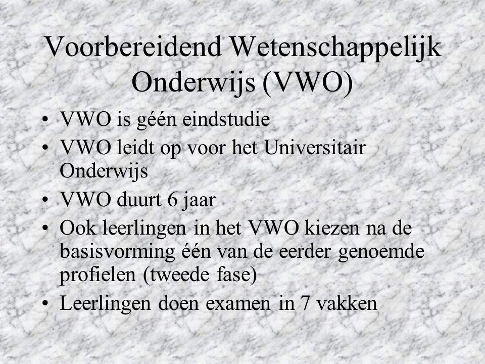 Voorbereidend Wetenschappelijk Onderwijs (VWO)