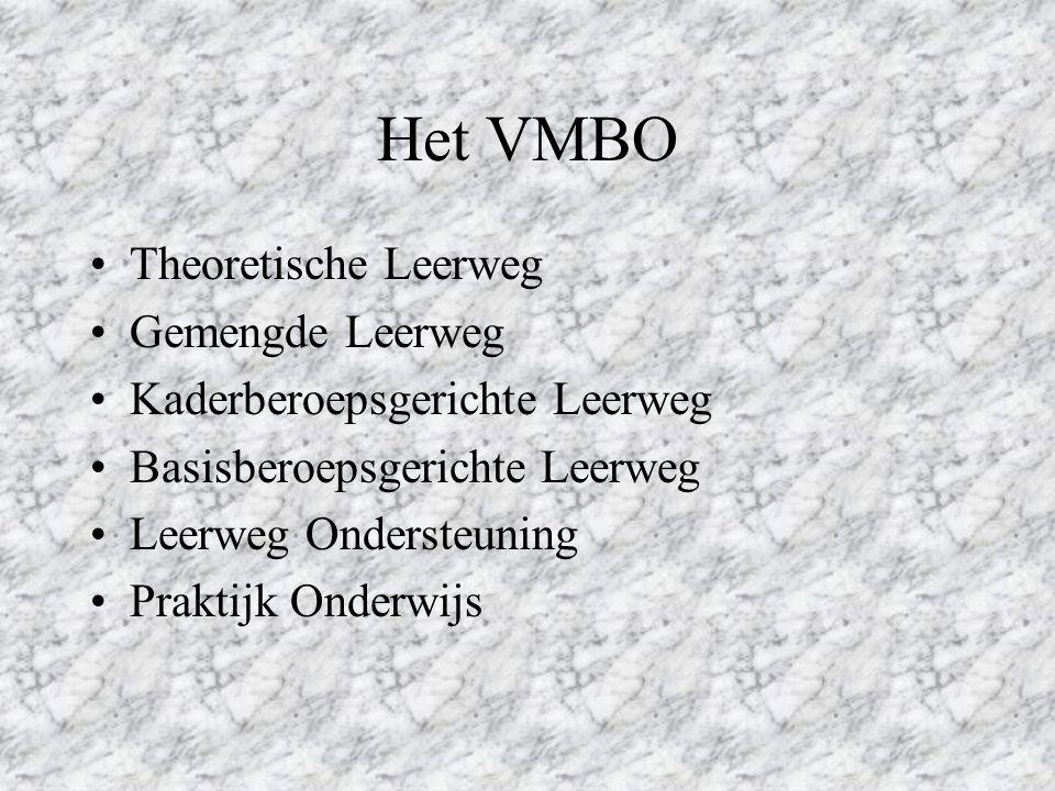 Het VMBO Theoretische Leerweg Gemengde Leerweg