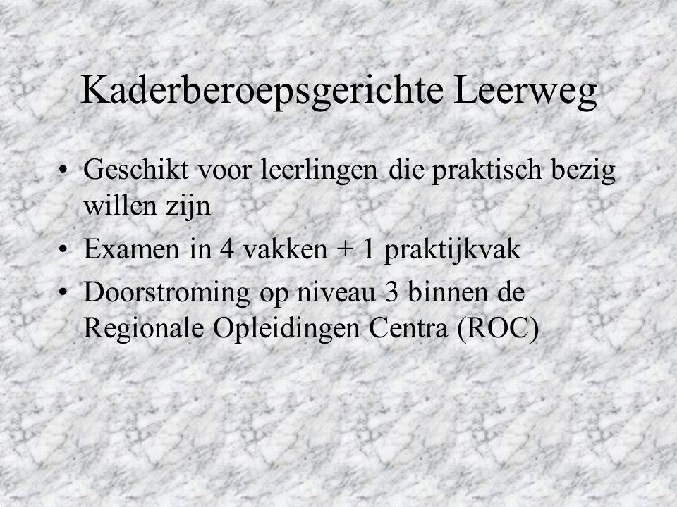 Kaderberoepsgerichte Leerweg