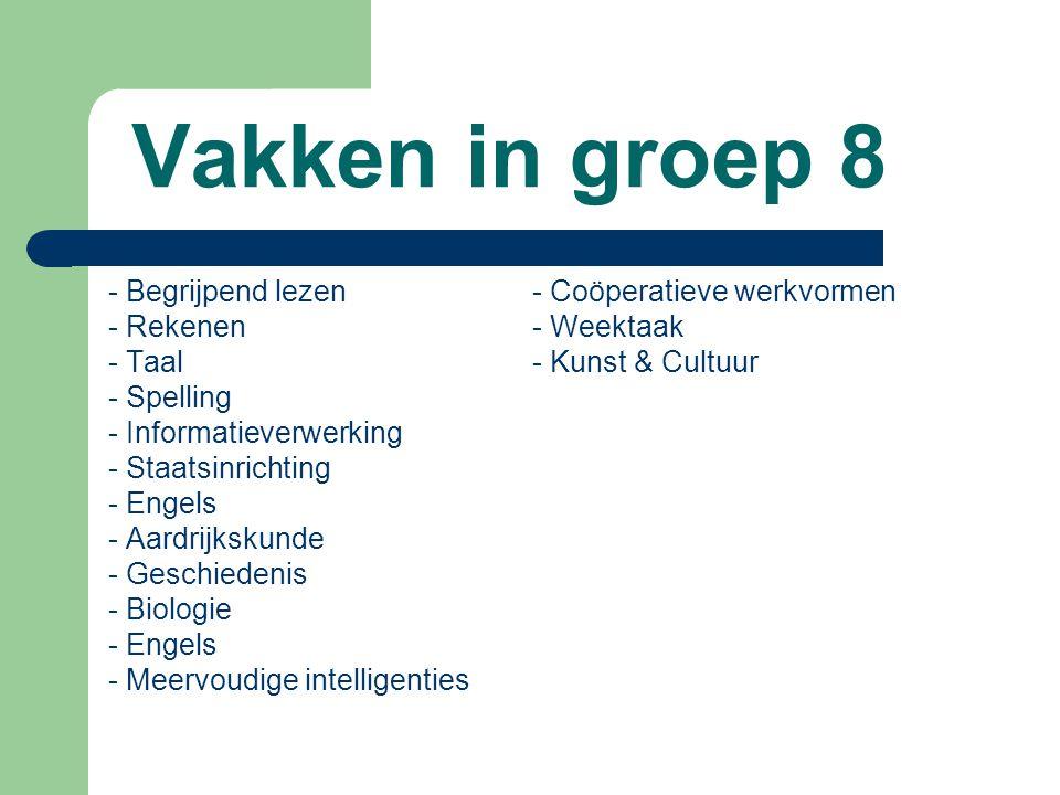 Vakken in groep 8 - Begrijpend lezen - Coöperatieve werkvormen