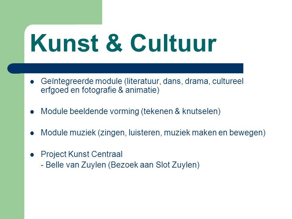 Kunst & Cultuur Geïntegreerde module (literatuur, dans, drama, cultureel erfgoed en fotografie & animatie)