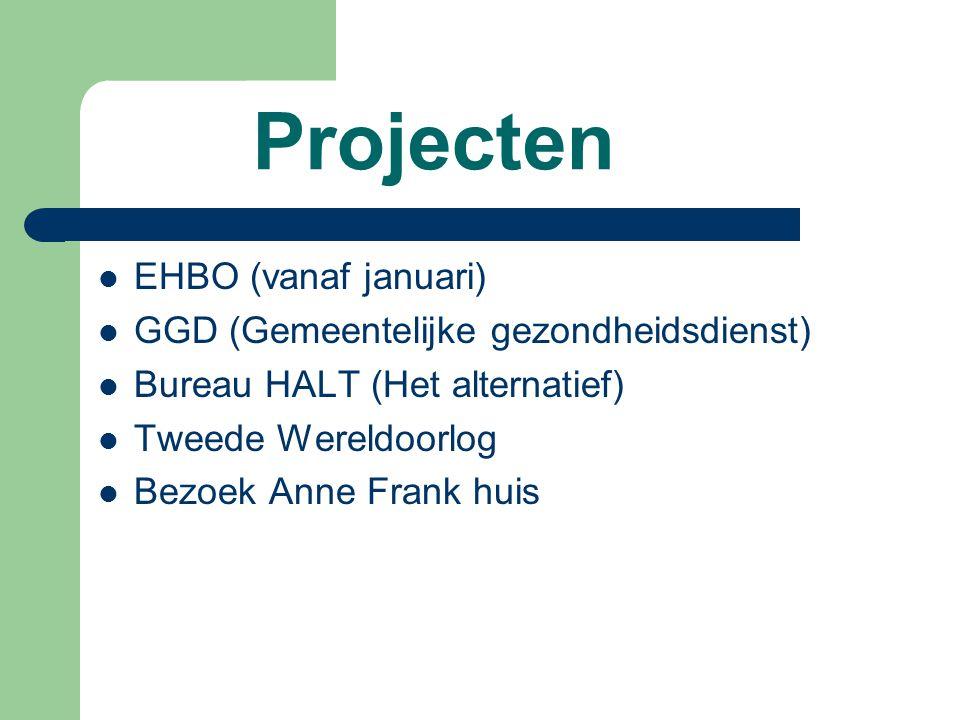 Projecten EHBO (vanaf januari) GGD (Gemeentelijke gezondheidsdienst)