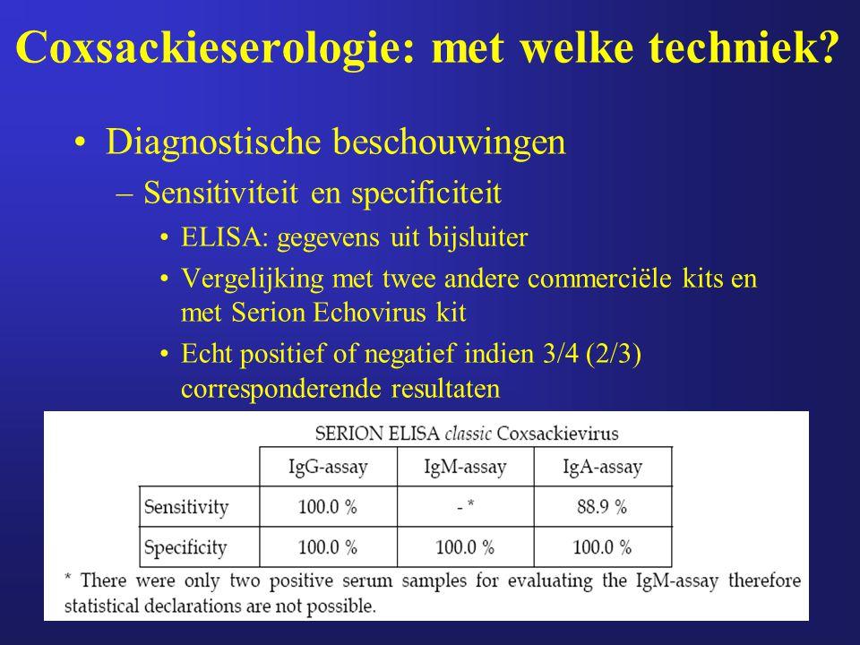 Coxsackieserologie: met welke techniek