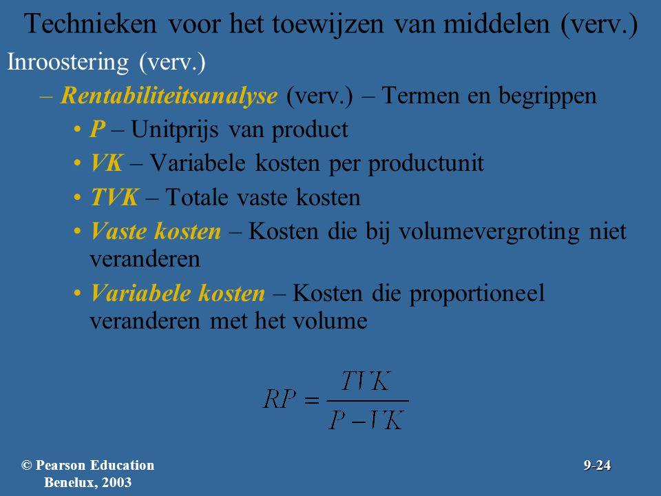 Technieken voor het toewijzen van middelen (verv.)