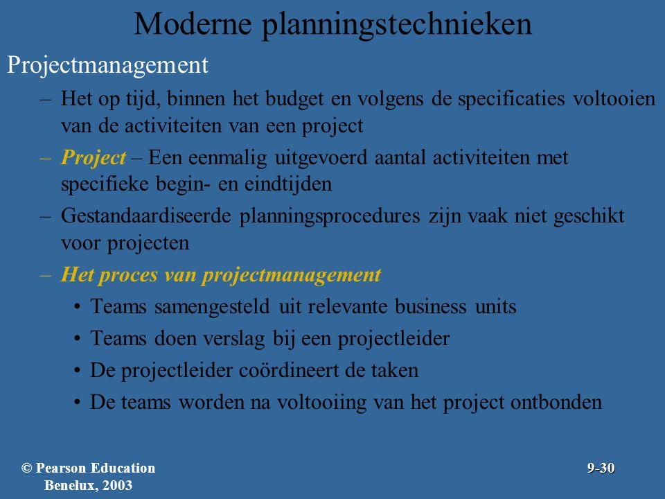Moderne planningstechnieken