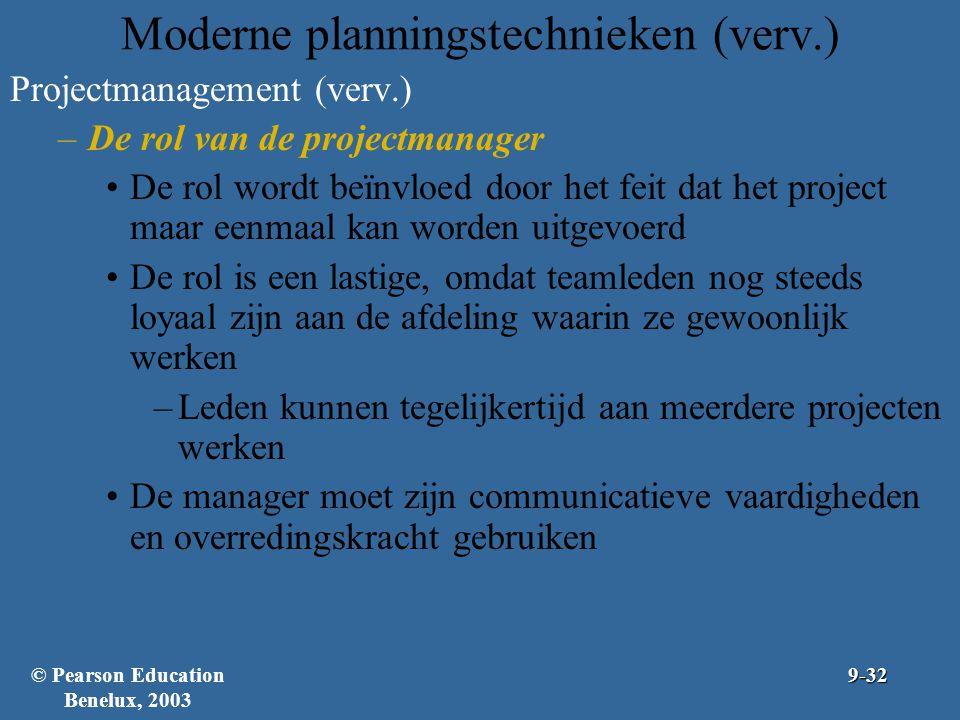 Moderne planningstechnieken (verv.)