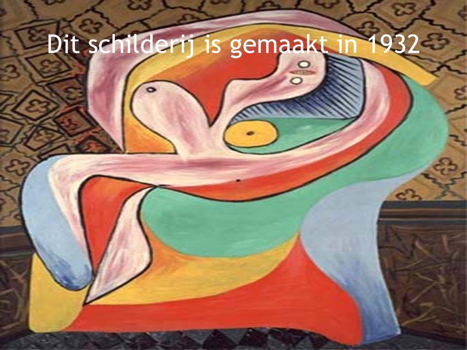 Dit schilderij is gemaakt in 1932