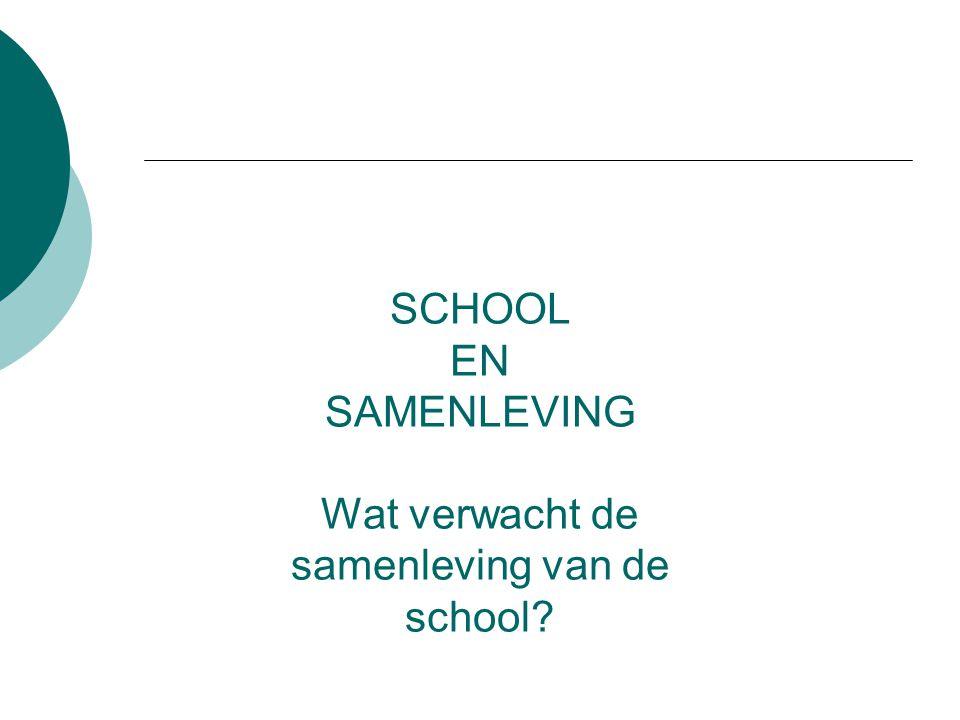 Wat verwacht de samenleving van de school