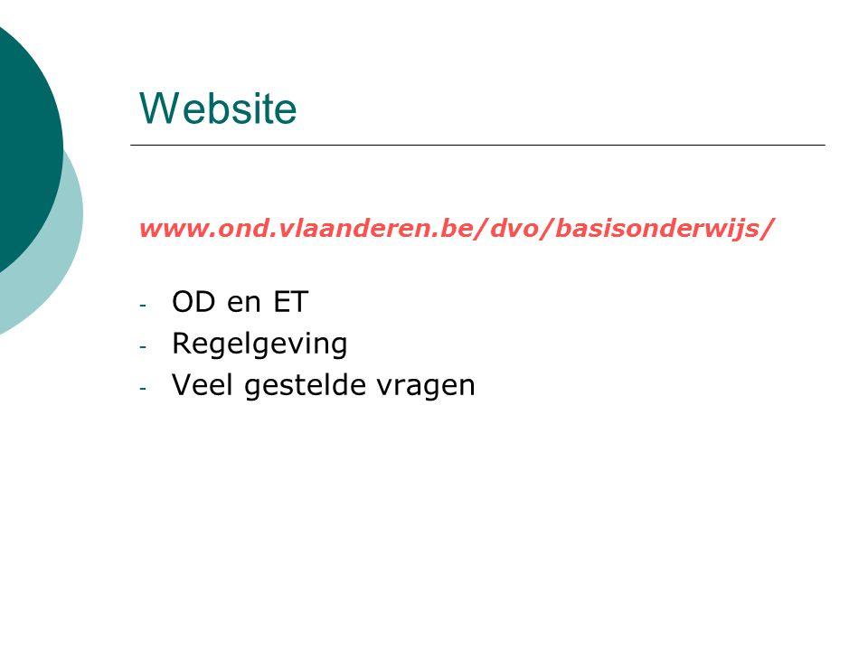 Website OD en ET Regelgeving Veel gestelde vragen