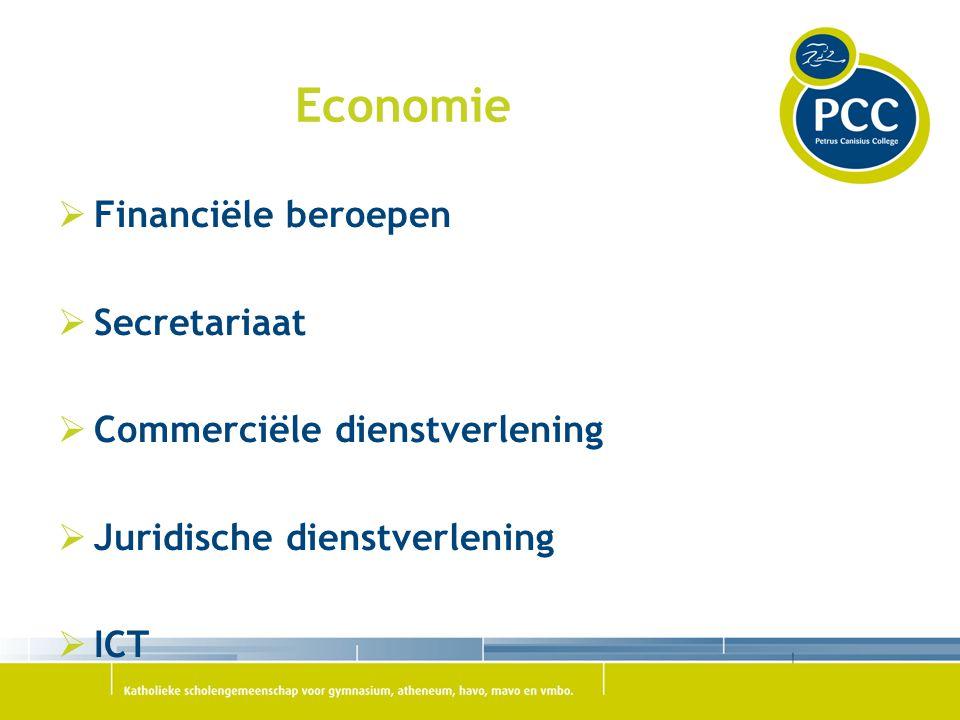 Economie Financiële beroepen Secretariaat Commerciële dienstverlening