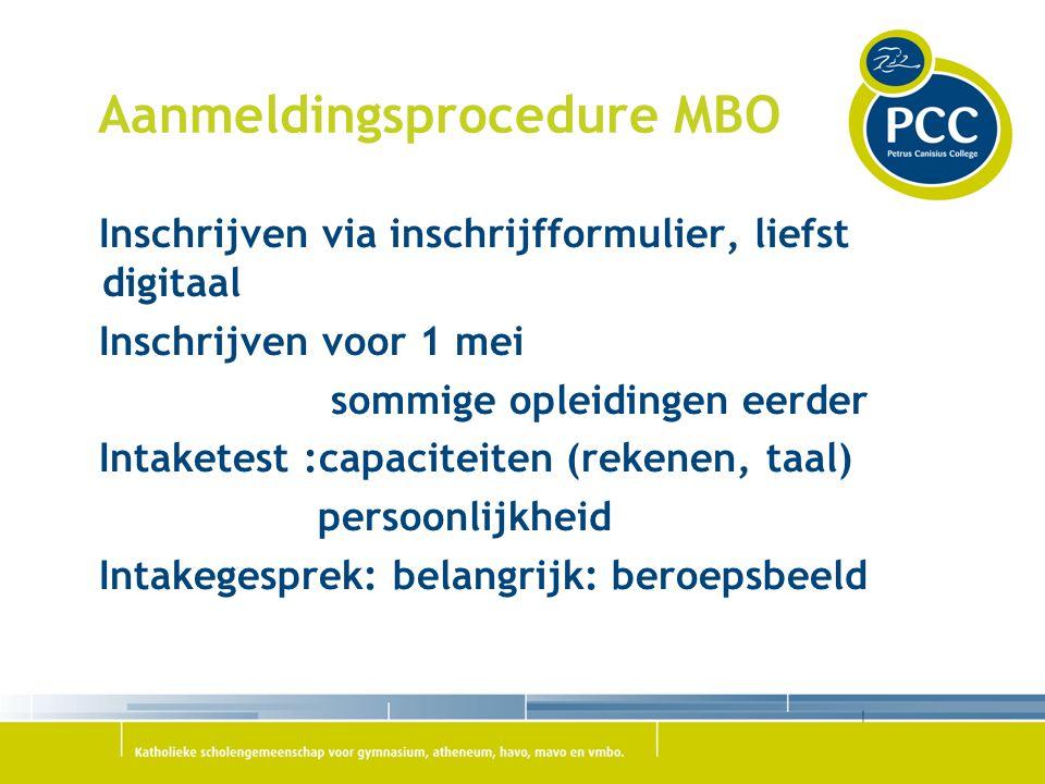 Aanmeldingsprocedure MBO