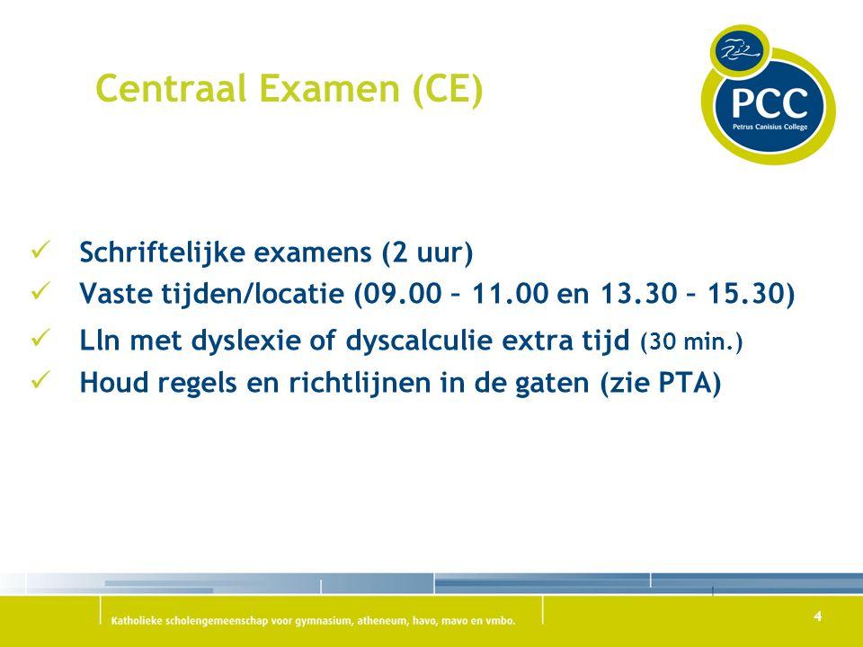 Centraal Examen (CE) Schriftelijke examens (2 uur)