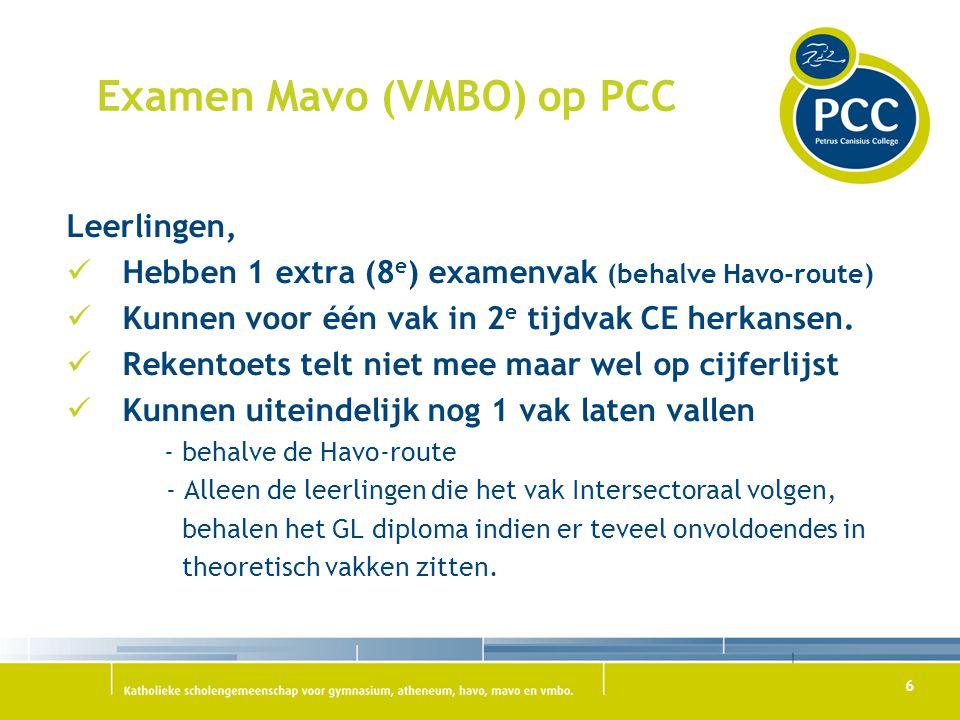 Examen Mavo (VMBO) op PCC