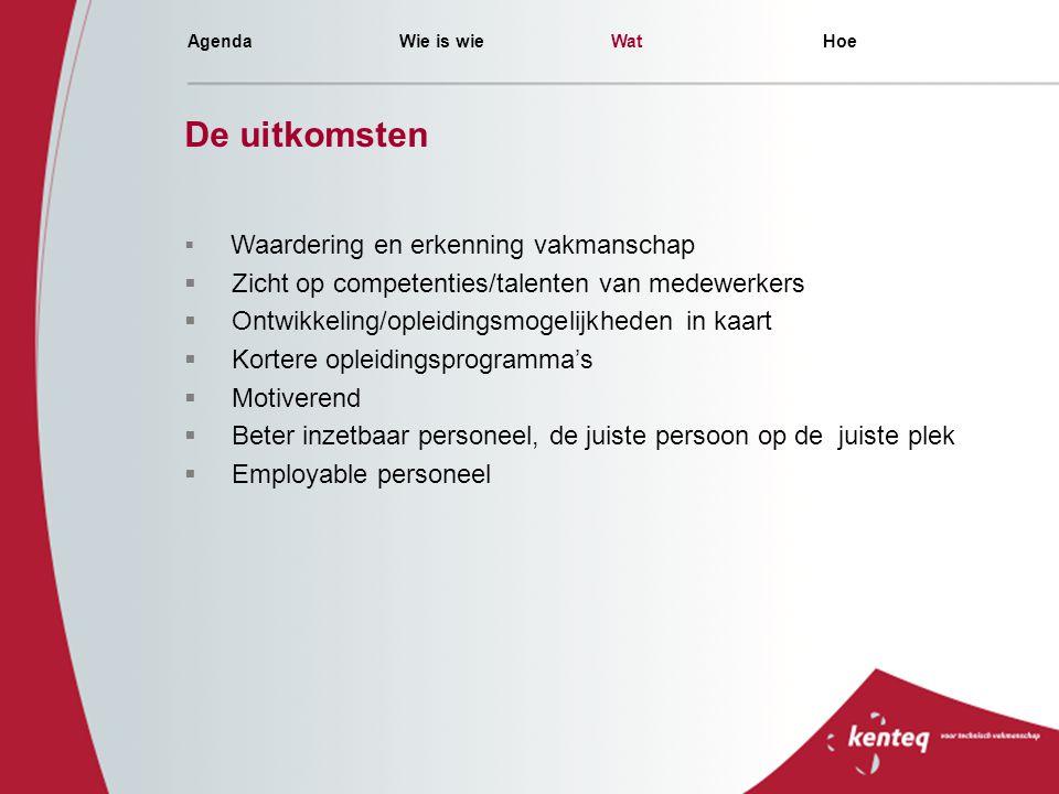 De uitkomsten Zicht op competenties/talenten van medewerkers