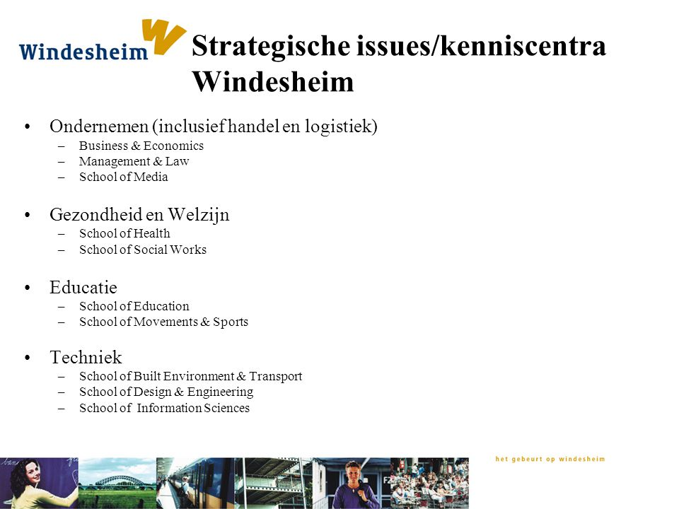 Strategische issues/kenniscentra Windesheim