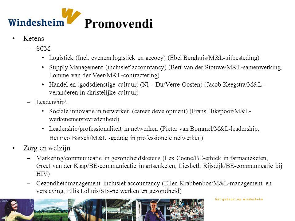 Promovendi Ketens Zorg en welzijn SCM