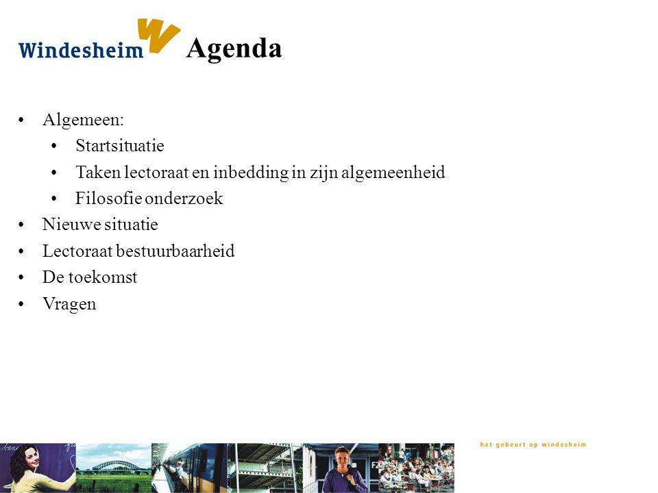 Agenda Algemeen: Startsituatie