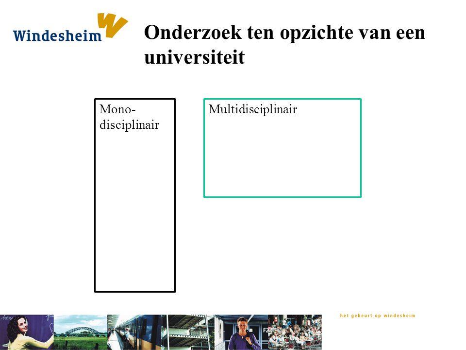 Onderzoek ten opzichte van een universiteit