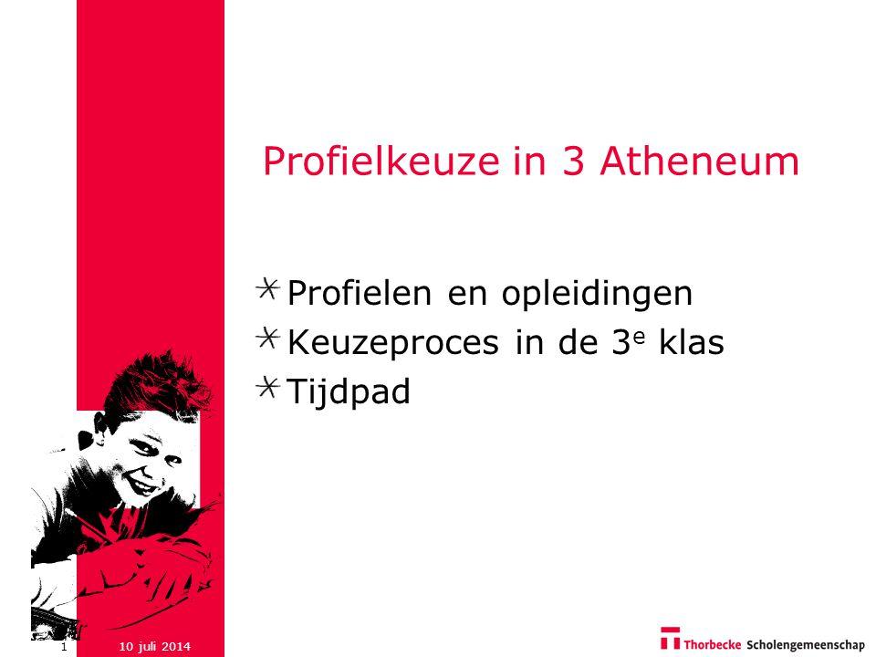 Profielkeuze in 3 Atheneum
