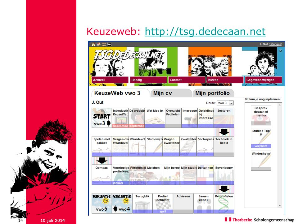 Keuzeweb: http://tsg.dedecaan.net