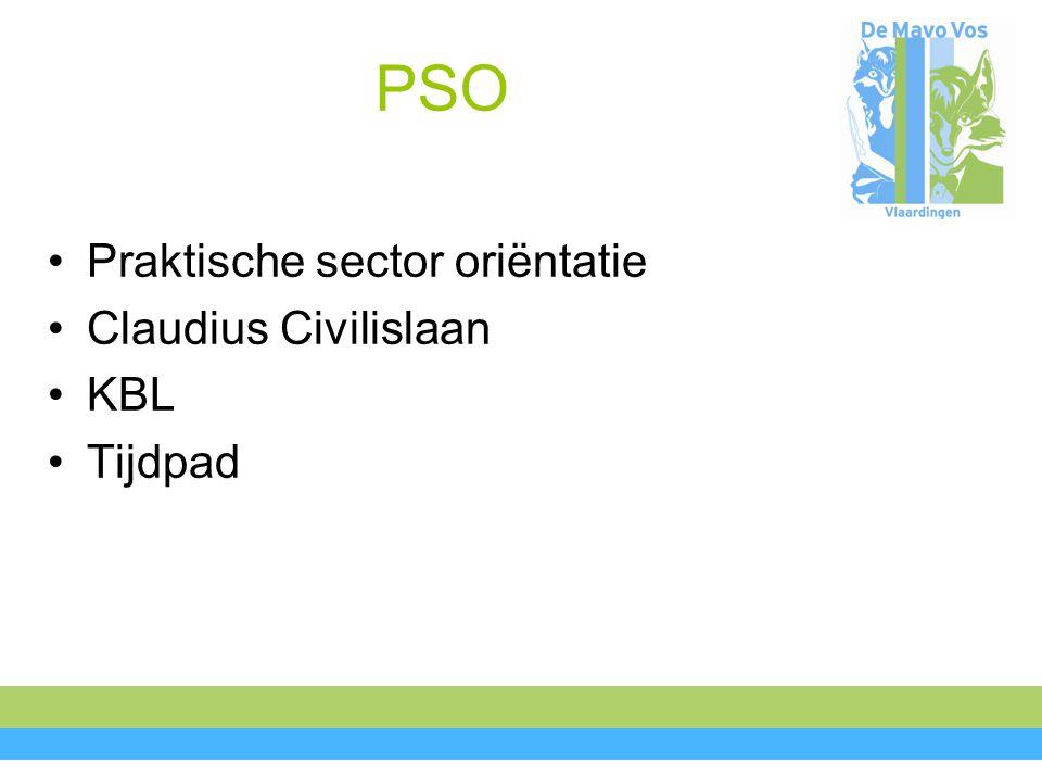 PSO Praktische sector oriëntatie Claudius Civilislaan KBL Tijdpad