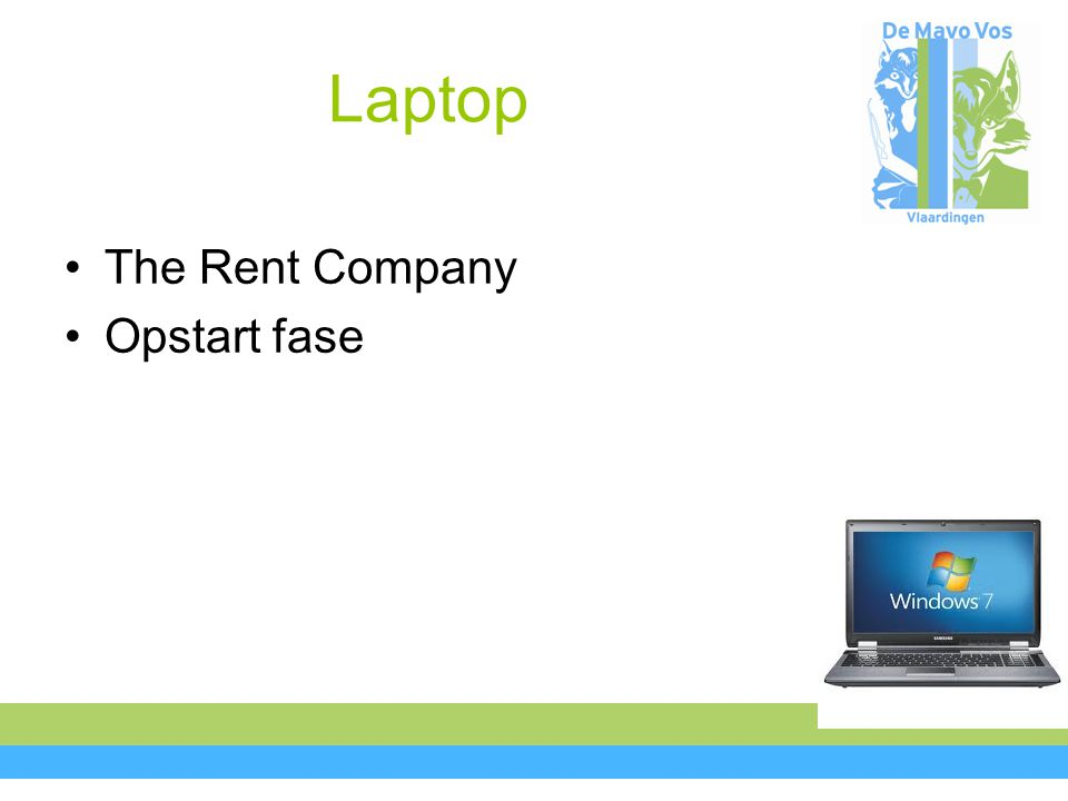 Laptop The Rent Company Opstart fase