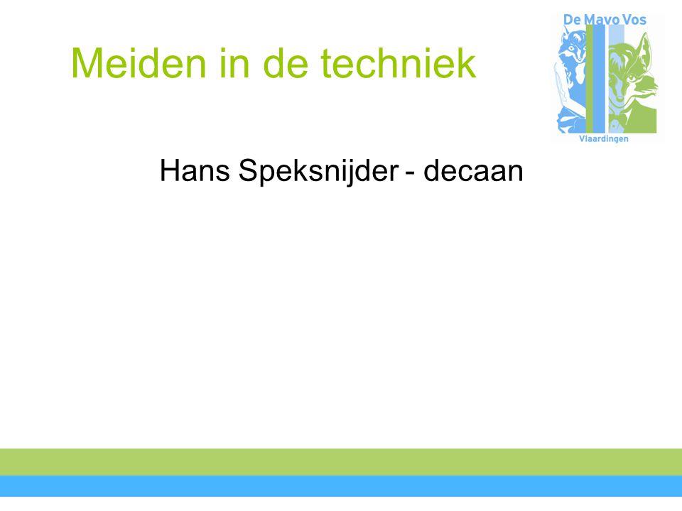 Hans Speksnijder - decaan