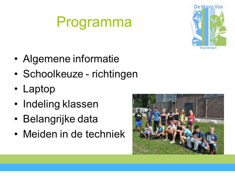 Programma Algemene informatie Schoolkeuze - richtingen Laptop