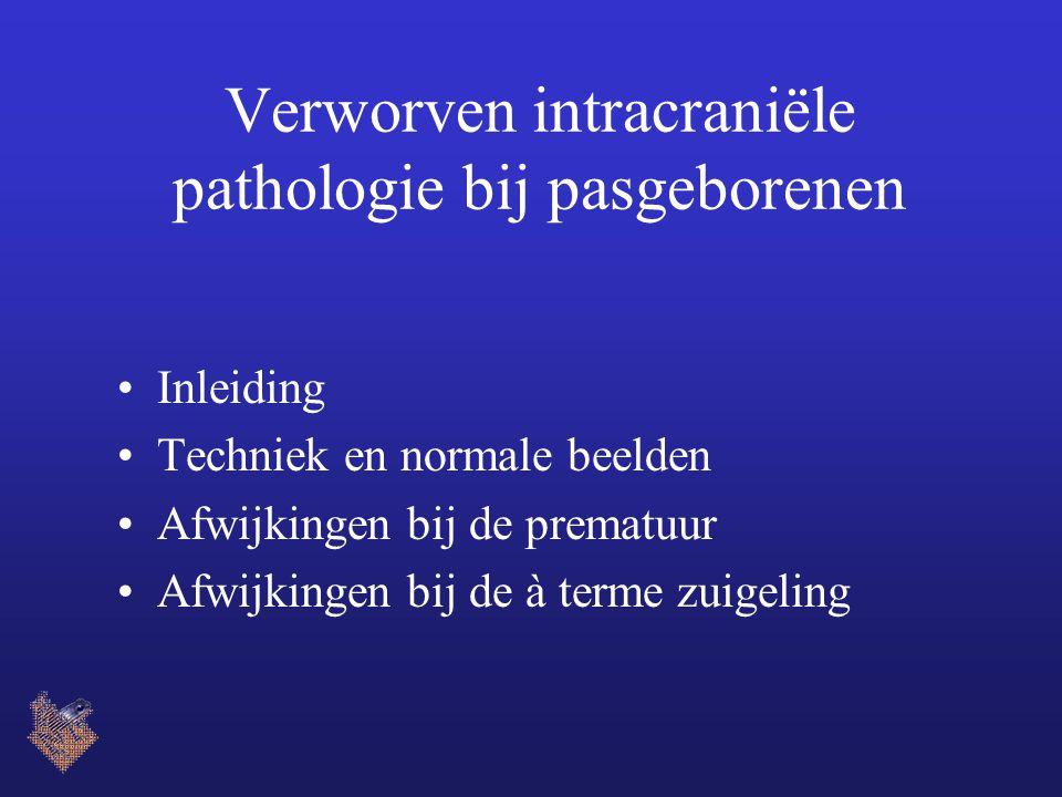 Verworven intracraniële pathologie bij pasgeborenen