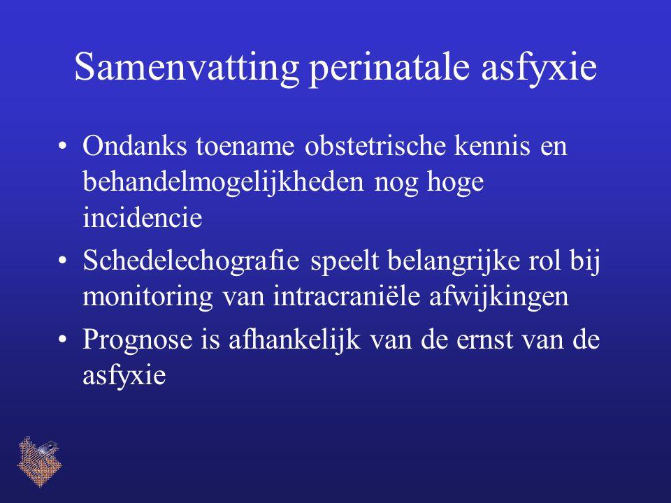 Samenvatting perinatale asfyxie