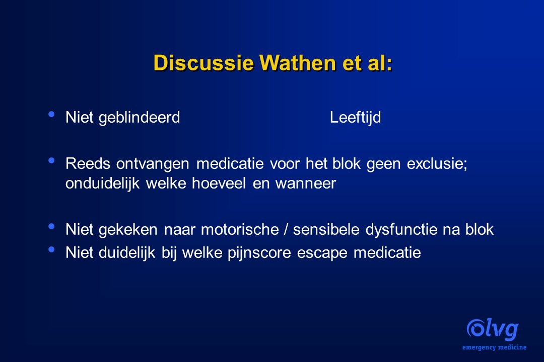 Discussie Wathen et al: