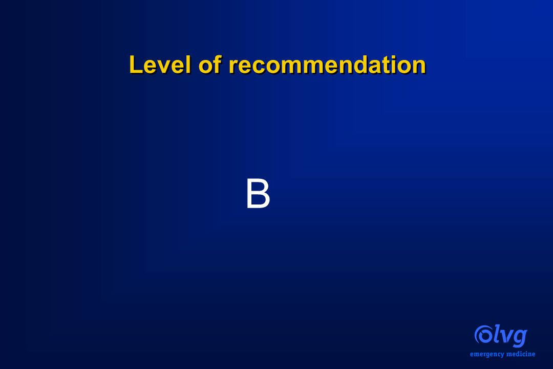 Level of recommendation