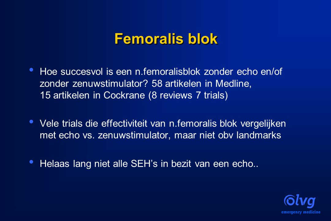 Femoralis blok