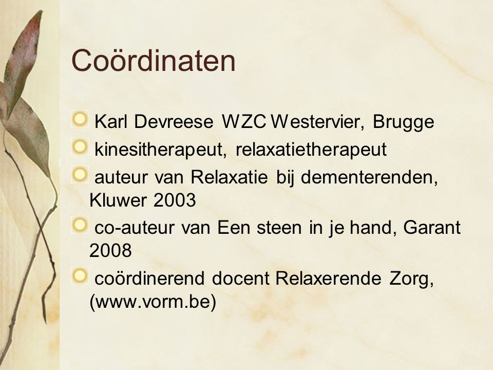 Coördinaten Karl Devreese WZC Westervier, Brugge