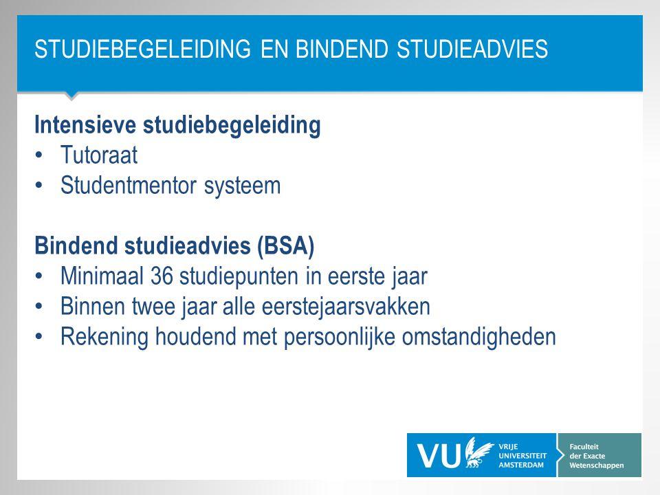 Studiebegeleiding en Bindend studieadvies