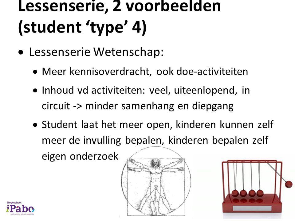 Lessenserie, 2 voorbeelden (student 'type' 4)