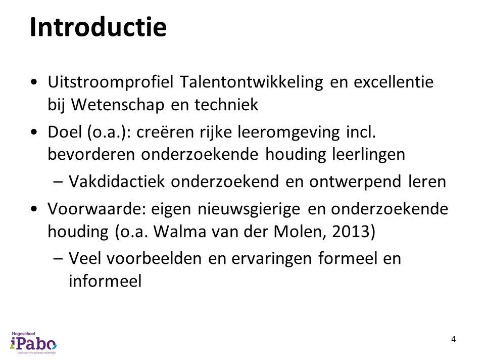 Introductie Uitstroomprofiel Talentontwikkeling en excellentie bij Wetenschap en techniek.
