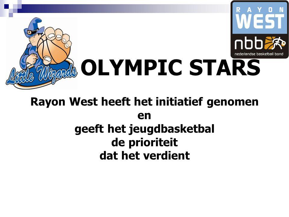 Rayon West heeft het initiatief genomen geeft het jeugdbasketbal