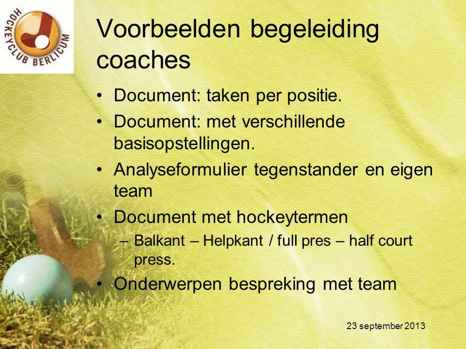 Voorbeelden begeleiding coaches