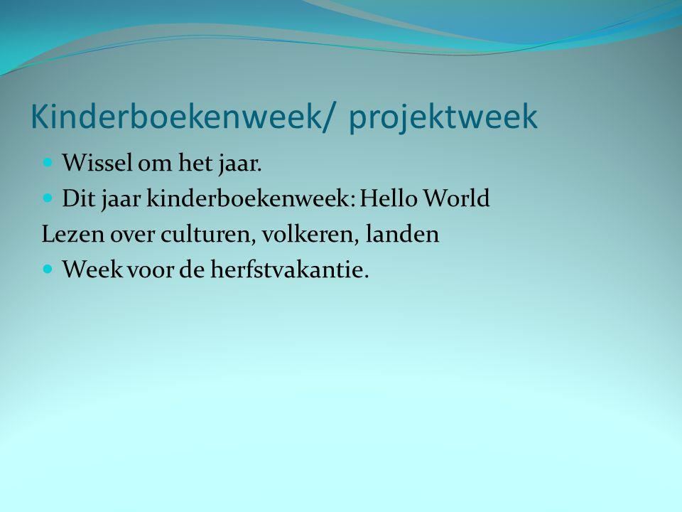 Kinderboekenweek/ projektweek