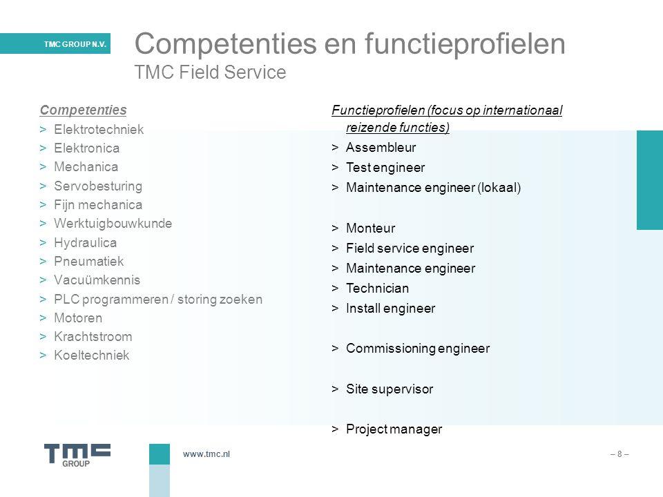 Competenties en functieprofielen TMC Field Service