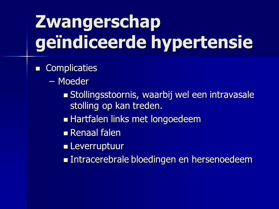 Zwangerschap geïndiceerde hypertensie