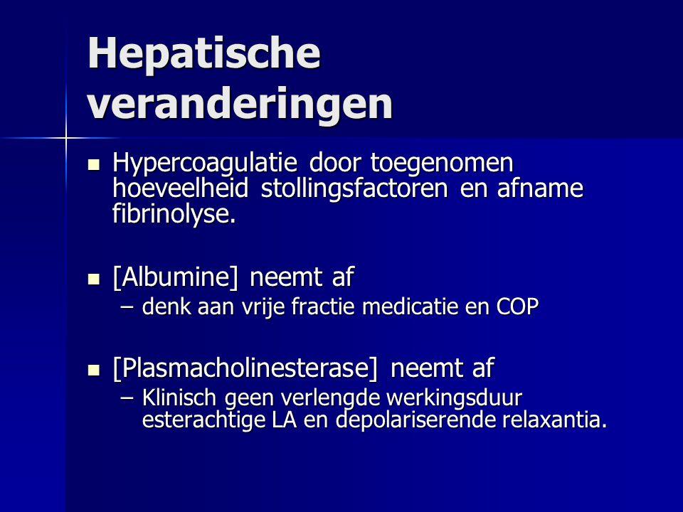 Hepatische veranderingen